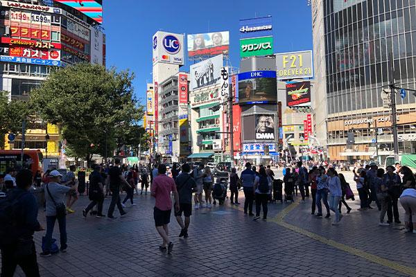 結婚相談所 東京 渋谷 ブログ  台風後に渋谷スクランブル交差点