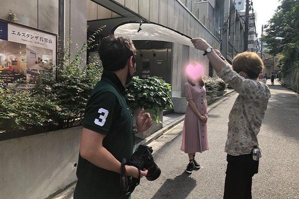 結婚相談所 東京 渋谷 20代 30代 女性 屋外撮影