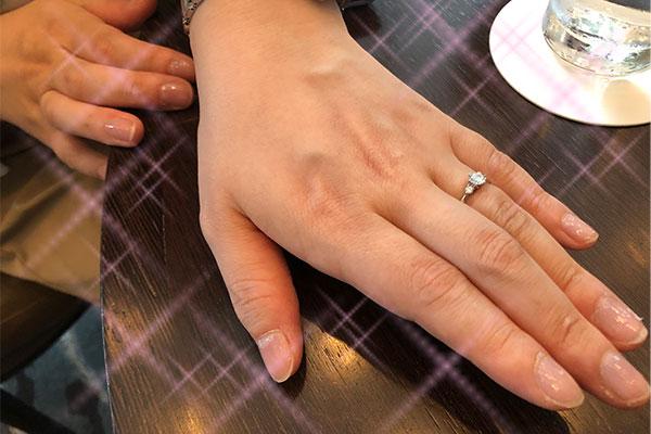 結婚相談所 東京 渋谷 30代 女性 成婚 婚約指輪